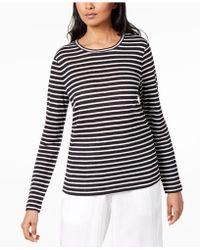 Eileen Fisher - Organic Linen Striped Top - Lyst