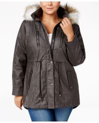 American Rag - Plus Size Faux-fur-trim Hooded Parka, Only At Macy's - Lyst