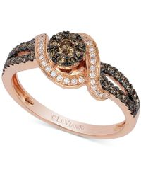Le Vian - Chocolatier® Diamond Statement Ring (1/2 Ct. T.w.) In 14k Rose Gold - Lyst