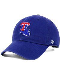 47 Brand - Louisiana Tech Bulldogs Clean-up Cap - Lyst