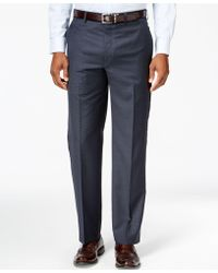 Lauren by Ralph Lauren - Wool Blue Check Classic-fit Dress Pants - Lyst