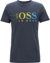 BOSS - Dégradé Logo-graphic Cotton T-shirt - Lyst