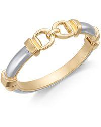 Charter Club - Two-tone Horesebit Bangle Bracelet, Created For Macy's - Lyst