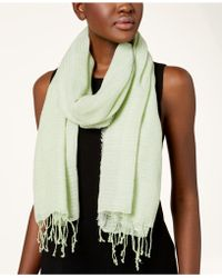 Eileen Fisher - Linen Blend Fringed Scarf - Lyst