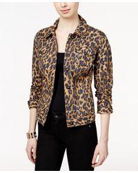 Style & Co. - Animal-print Denim Jacket - Lyst
