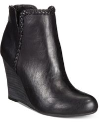 Report - Rosemary Wedge Booties - Lyst