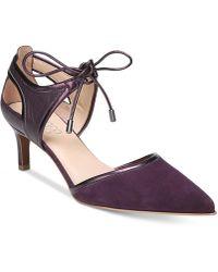 Franco Sarto - Darlis Ankle-tie Pointed-toe Pumps - Lyst