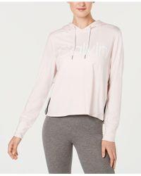 4fca8961fbb Lyst - Tommy Hilfiger Plus Size Varsity Logo Sweatshirt in Black