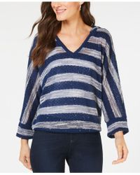 INC International Concepts - I.n.c. Textured-knit Striped Hooded Top, Created For Macy's - Lyst