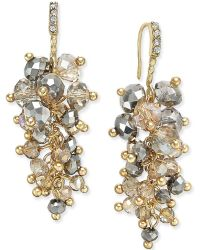 c.A.K.e. By Ali Khan - Gold-tone Multi-bead Cascade Drop Earrings - Lyst
