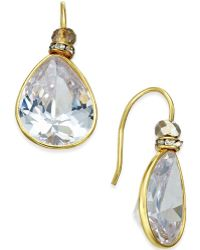 c.A.K.e. By Ali Khan - Gold-tone Large Teardrop Crystal Drop Earrings - Lyst
