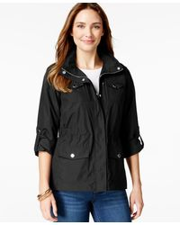 Style & Co. - Petite Zip-pocket Hooded Anorak, Only At Macy's - Lyst