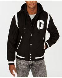 Guess - Hooded Varsity Jacket - Lyst