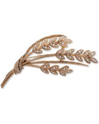 Anne Klein - Gold-tone Pavé & Imitation Pearl Wheat Pin, Created For Macy's - Lyst