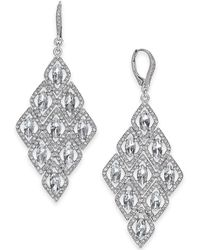 INC International Concepts - I.n.c. Silver-tone Crystal Kite Chandelier Earrings, Created For Macy's - Lyst