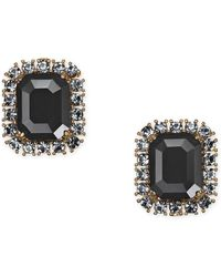 Kate Spade - Gold-tone Crystal & Stone Square Stud Earrings - Lyst