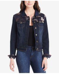 Vintage America - Lena Printed Denim Jacket - Lyst