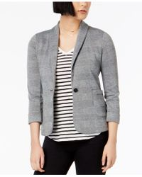 Maison Jules - Printed One-button Blazer, Created For Macy's - Lyst