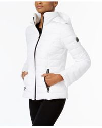 Nautica - Hooded Contrast-trim Packable Puffer Coat - Lyst