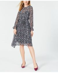 Maison Jules - Floral-print Asymmetrical Dress, Created For Macy's - Lyst