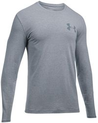 Under Armour - Men's Charged Cotton® Long-sleeve T-shirt - Lyst