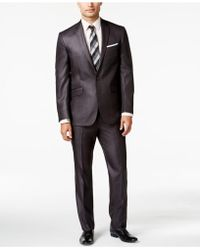 Kenneth Cole Reaction | Charcoal Basketweave Slim Fit | Lyst
