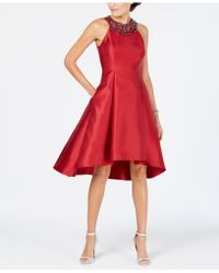 Adrianna Papell - Rhinestone High-low Dress - Lyst