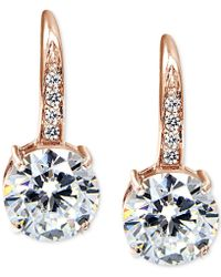 Giani Bernini - Cubic Zirconia Drop Earrings In 18k Gold-plated Sterling Silver, Created For Macy's - Lyst