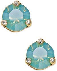 Kate Spade | Rise And Shine Gold-tone Crystal Stud Earrings | Lyst