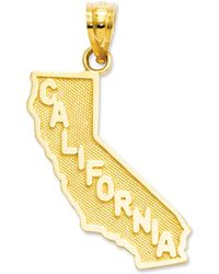 Macy's - 14k Gold Charm, California State Charm - Lyst