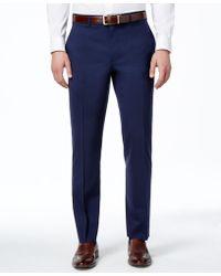 Lauren by Ralph Lauren - Navy Solid Total Stretch Slim-fit Pants - Lyst