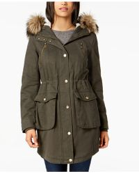 BCBGeneration - Faux-fur-trim Hooded Anorak - Lyst