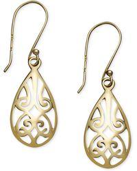 Giani Bernini - 18k Gold Over Sterling Silver Earrings, Filigree Teardrop Earrings - Lyst