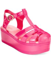 7badc92060e Wanted - Jellypop Flatform Jelly Sandals - Lyst
