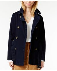 Maison Jules - Denim Trench Coat, Only At Macy's - Lyst