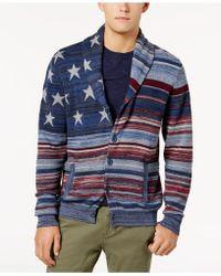 American Rag - Men's Stars And Stripes Cardigan Sweater - Lyst
