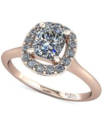 Macy's - Diamond Halo Mount Setting (1/8 Ct. T.w.) In 14k Rose Gold - Lyst