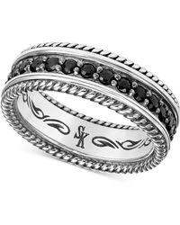 Scott Kay - Men's Black Sapphire Ring (1-3/4 Ct. T.w.) In Sterling Silver - Lyst