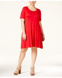 American Rag - Plus Size Short-sleeve Skater Dress, Only At Macy's - Lyst