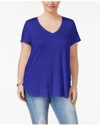 Celebrity Pink - Trendy Plus Size V-neck T-shirt - Lyst