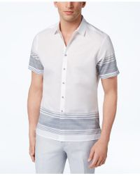 INC International Concepts - Striped Cotton Shirt, Created For Macy's - Lyst
