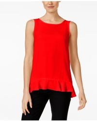 Cece by Cynthia Steffe - Sleeveless Ruffled Tank Top - Lyst