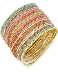 ABS By Allen Schwartz - Gold-tone 20-pc. Set Beaded Stretch Bangle Bracelets - Lyst