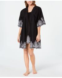 Charter Club - Embroidered Woven Cotton Chemise Nightgown And Wrap Robe Set, Created For Macy's - Lyst