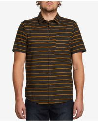 Volcom - Konten Slim-fit Striped Shirt - Lyst