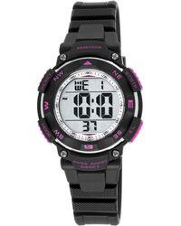 Armitron - Women's Digital Chronograph Black Strap Watch 37mm 45-7058bkpr - Lyst