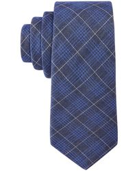 Con.struct - Con.struct Men's Denim Plaid Slim Tie - Lyst