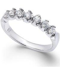 Macy's - Diamond Scalloped Ring (1/2 Ct. T.w.) In 14k White Gold - Lyst