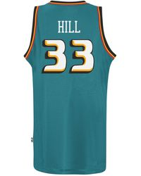 8c4096d15c5 adidas - Men s Grant Hill Detroit Pistons Retired Player Swingman Jersey -  Lyst