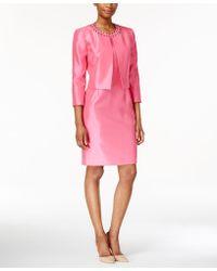 Kasper - Beaded Jacket & Sheath Dress Suit - Lyst
